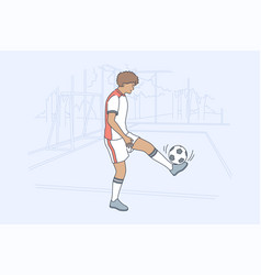 sport training game football activity concept vector image