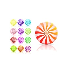 Striped candy icon set lollipop vector