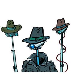Surveillance spy total video surveillance secret vector