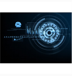 technological abstract grid business interface vector image