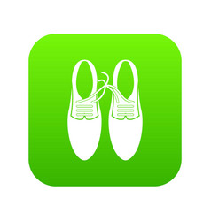 tied laces on shoes joke icon digital green vector image