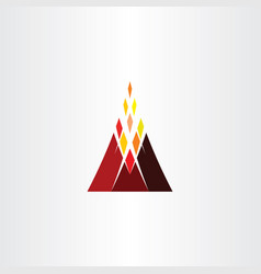 volcano mountain icon logo symbol element vector image