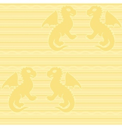 Baby dragon seamless pattern vector image