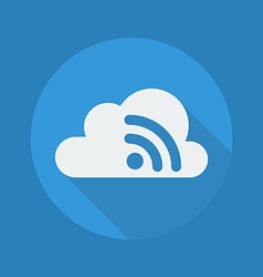 Cloud computing flat icon wireless network vector