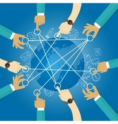 connecting world building transportation network vector image