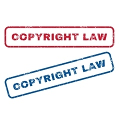 Copyright Law Rubber Stamps vector image vector image