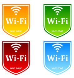 free wifi zone vector image vector image