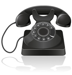 old phone 01 vector image vector image