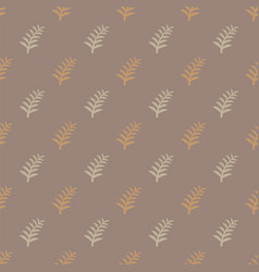 pattern tree branches on brown background twig vector image
