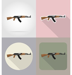 weapon flat icons 02 vector image