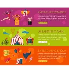 Circus performance entertainment amusement show vector