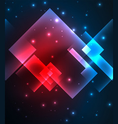 Dark background design with squares and shiny vector