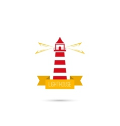 icons lighthouse vector image vector image