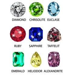 Precious stones vector