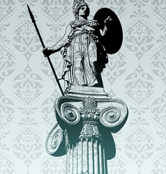 statue of athena vector image vector image