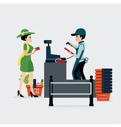 Checkout Counter vector image