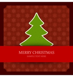 Christmas green tree applique vector image