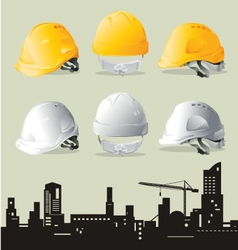 Contruction hat vector image