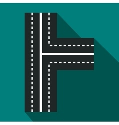 Crossroads icon in flat style vector image
