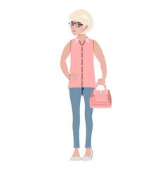 girl female stockings fashion woman vector image