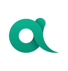simple logo of the letter a in flat style the vector image
