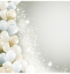 stars and balloons vector image vector image