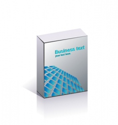 blank business packing vector image