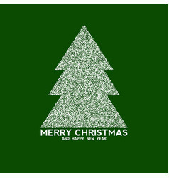 christmas tree made from dots vector image