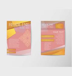 Flyer thai design template Brochure in A4 size vector image vector image