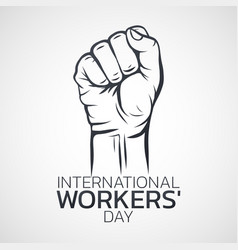 international workers day logo icon design vector image