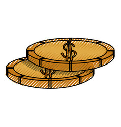 Money coins isolated vector