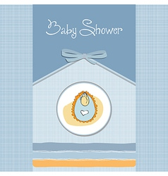new baby boy announcement card vector image vector image