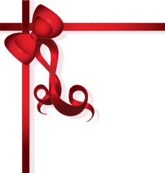 Red Bow for gifts vector image vector image