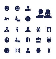 22 avatar icons vector
