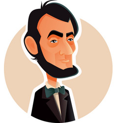 abraham lincoln caricature vector image