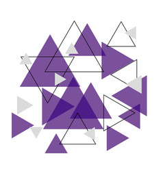 Abstract purple triangle banner background vector