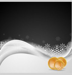 abstract white waves and christmas decorations vector image
