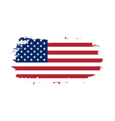 american flag grunge old flag usa isolated white vector image