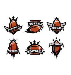 American football set logos vector