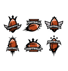 American football set of logos vector