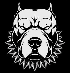 angry dog head vector image