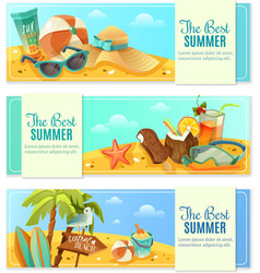 Beach banners set vector image