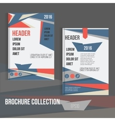 Brochure cover design templates with vector