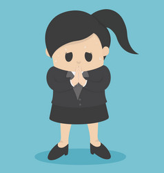 business woman who regret show hand gesture vector image