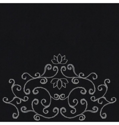 Chalk decorative ornament vector image