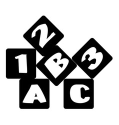 children bricks icon simple style vector image