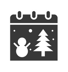 Christmas calendar christmas related solid style vector