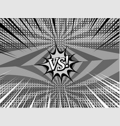 Comic versus monochrome background vector