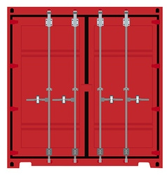 Container front or back view vector