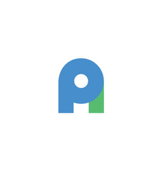 Cool and modern logo initials pa design vector